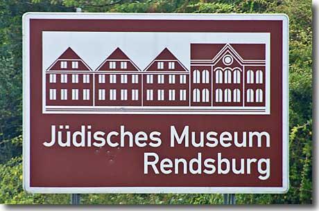 Autobahnschild Jüdisches Museum Rendsburg