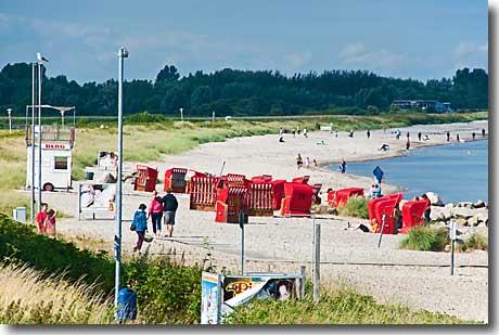 Der Strandkorbstrand In Schonhagen