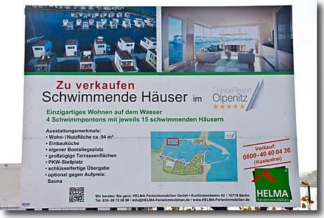 schwimmende ferienh user im ostseeresort olpenitz. Black Bedroom Furniture Sets. Home Design Ideas